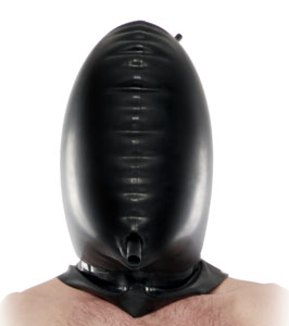 Total Blackout Latex Hood From Pipedream