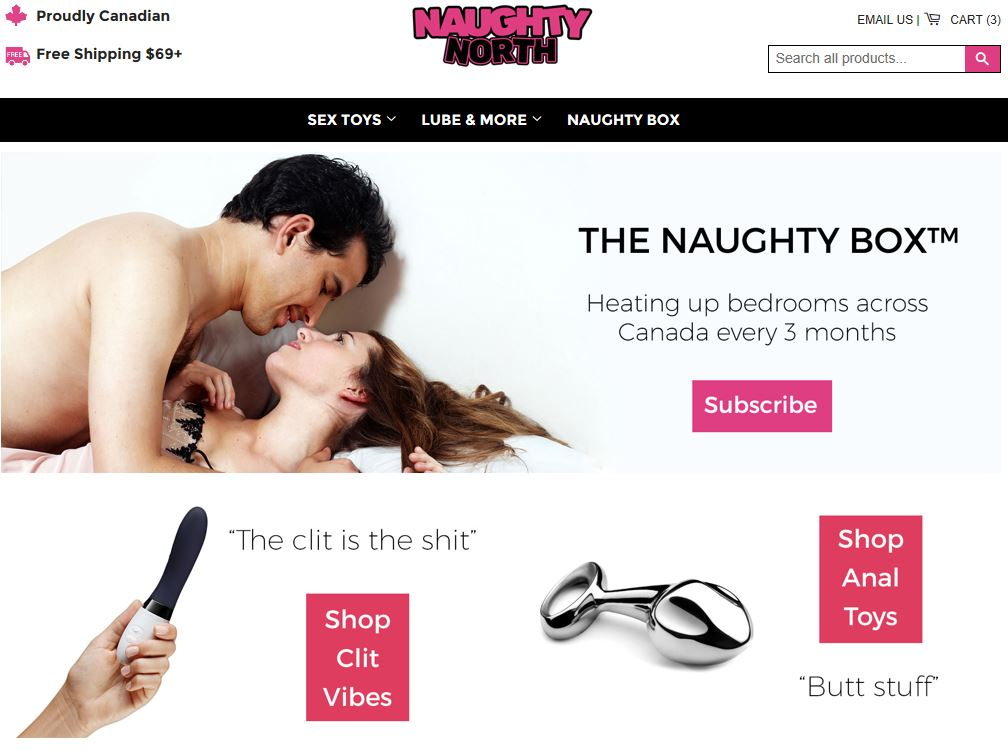 "Naughty North ""Canada's Best Sex Toy Shop"""